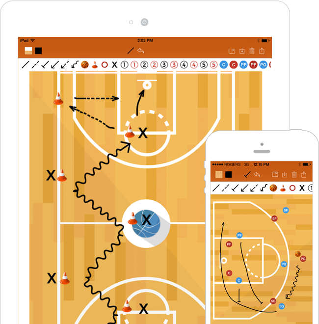 Basketball coaching app basketball blueprint effortlessly draw professional looking plays and drills malvernweather Gallery